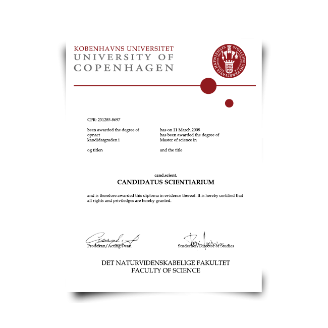 Buy Fake Diploma from Denmark University! Best Premium Layouts! Updated 2020! Just $199.00!