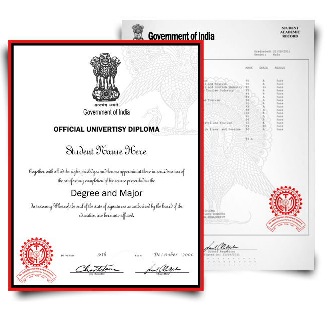 Fake Diploma & Transcript from India University! Total Package! Best Value! 100% Satisfaction Guaranteed! Only $379.00!