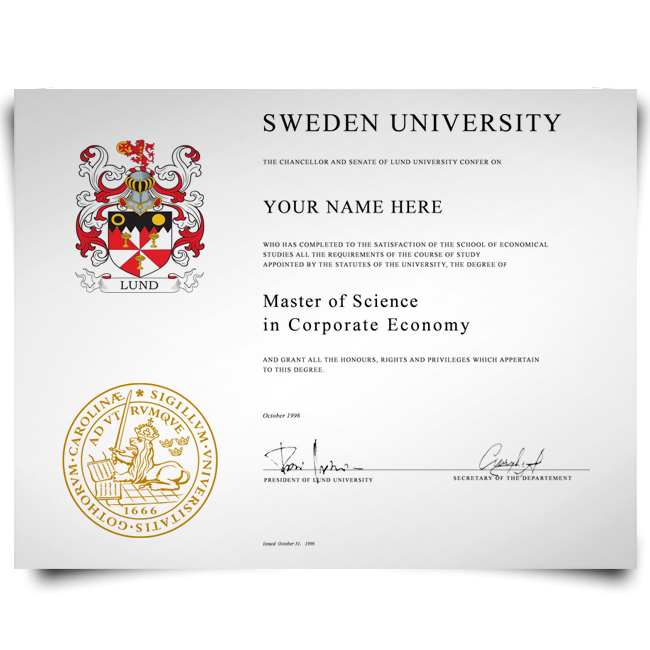 Buy Fake Diploma from Sweden University! Best Premium Layouts! Updated 2020! Just $199.00!
