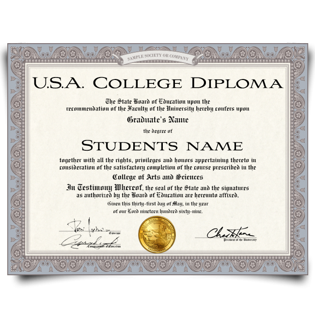 Buy Fake Diploma from USA University! Best Premium Layouts! Updated 2020! Just $179.00!