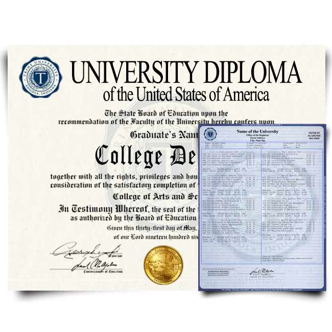 Fake Diploma & Transcript from USA University! Total Package! Best Value! 100% Satisfaction Guaranteed! Only $279.00!
