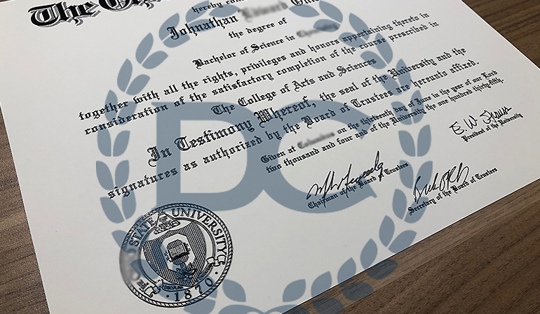 realistic fake ohio college diploma with 100% raised print