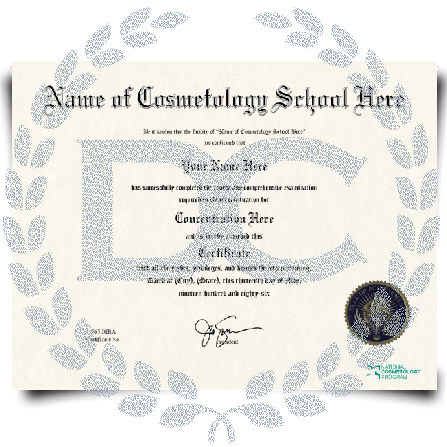Order Fake Cosmetology Certificate! Top Premium Layouts! Updated 2020! Just $149.95!