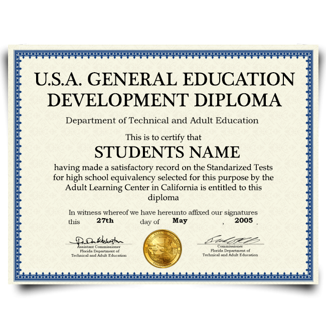 Buy Fake GED Diploma from USA! Best Premium Layouts! Updated 2020! Just $69.00!