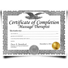 Order Fake Massage Therapist Certificates! Top Premium Layouts! Updated 2020! Only $149.99!