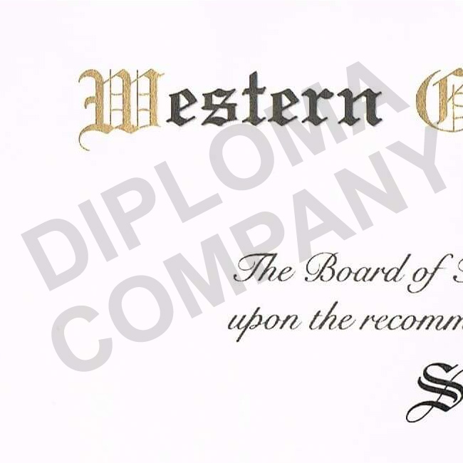 diploma sample from early 2000's