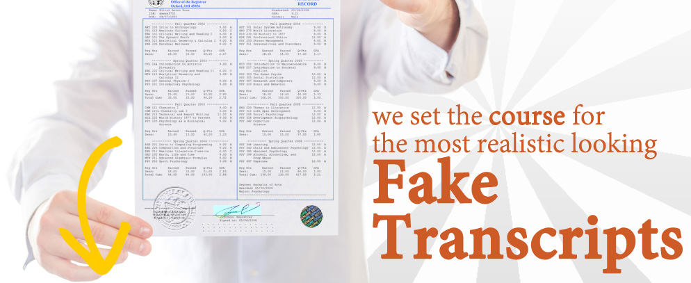 Find Fake Transcripts at DiplomaCompany. Enjoy Fast Shipping & browse our selection High School, College and University options! Prices start at IND ₹5,278.31!