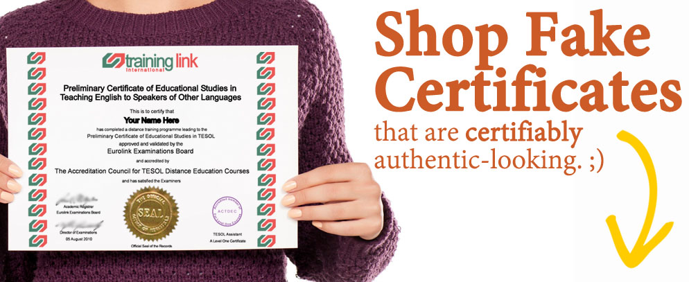 Buy fake certificates today! High quality replications with free proofs, fast shipping and satisfaction guaranteed.