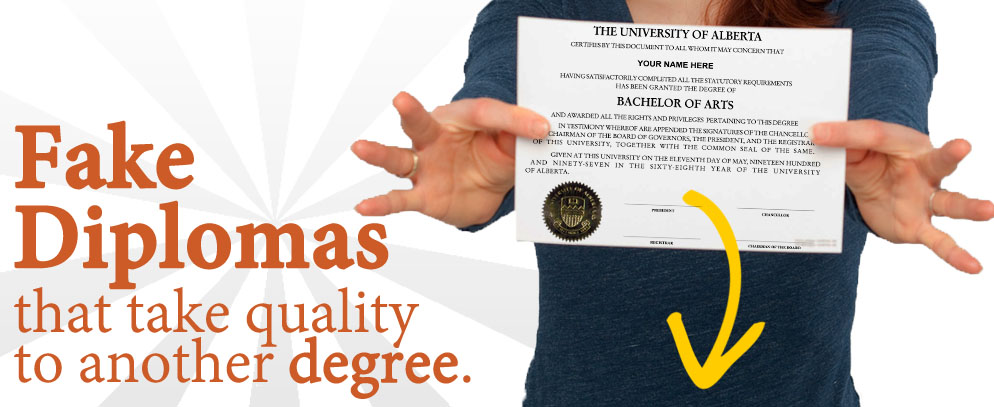 10+ years offering best fake diplomas and degrees! Raised seals and text! 100% satisfaction guaranteed!