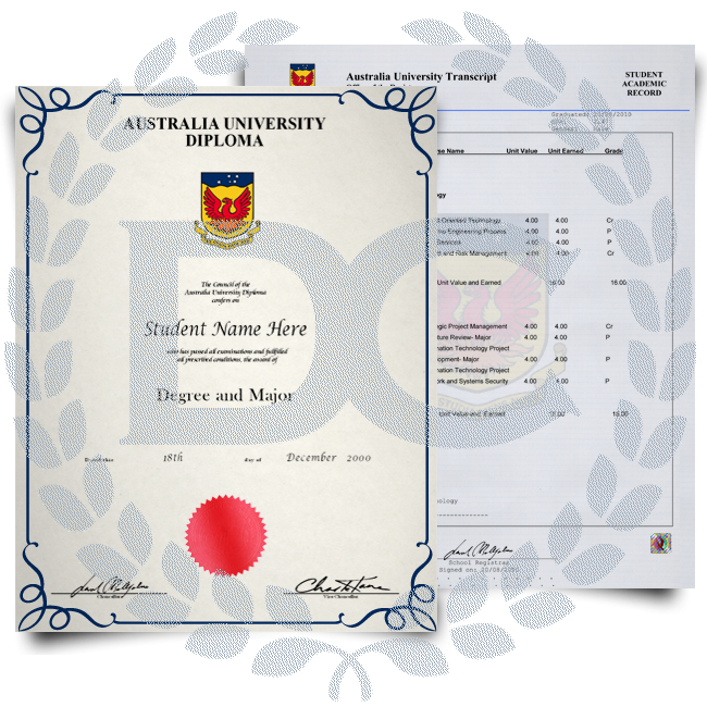 Fake Diploma & Transcript from Australia University! Total Package! Best Value! 100% Satisfaction Guaranteed! Only $379.00!