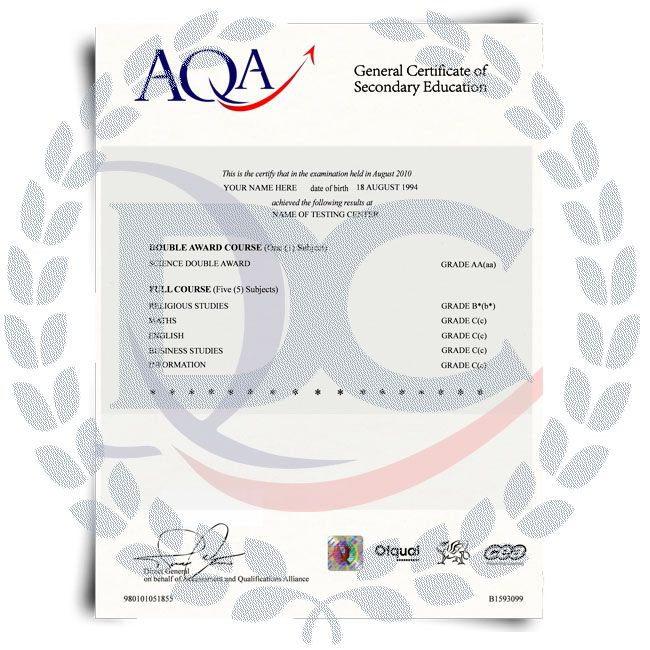 Buy Fake GCSE Certificate! Top Premium Layouts! Updated 2020! Only $259.00!