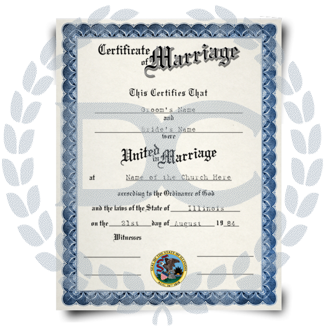 For certificate site marriage Vital Records