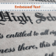 fake diploma with raised text