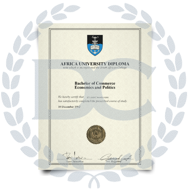 Buy Fake Diploma from South Africa University! Top Premium Layouts! Updated 2020! Just $199.00!