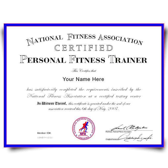 Buy Fake Personal Training Certificate! Top Premium Layouts! Updated 2020! Only $79.00!
