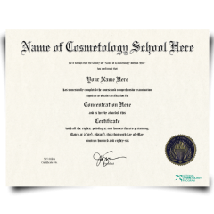Buy Fake Cosmetology Certificate! Top Premium Layouts! Updated 2020! Only $149.95!