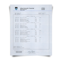 Buy Fake Transcript from South Africa University! New 2020 Classes! Embossed! Most Realistic Novelty! For $199.00!