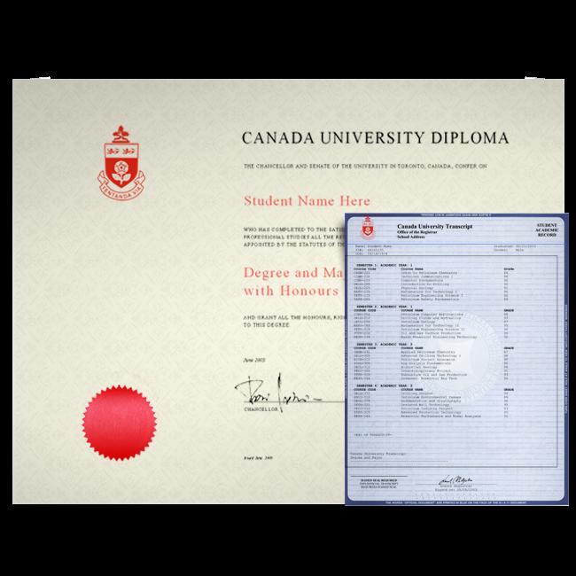 Fake Canada College Diploma and Transcripts