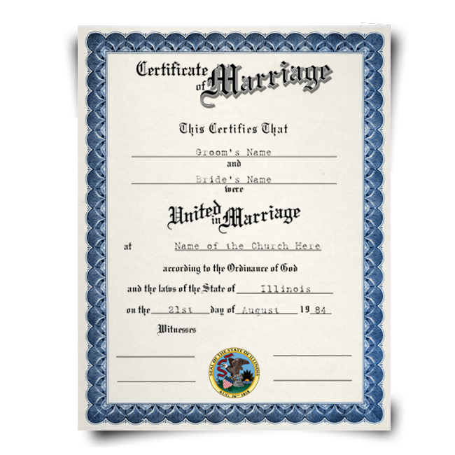 Fake Marriage Certificate – Marriage Certificate