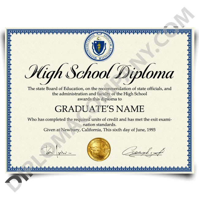 get a fake high school diploma