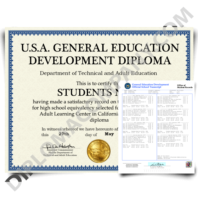 fake usa ged diploma and transcripts, fake us ged diploma and transcripts