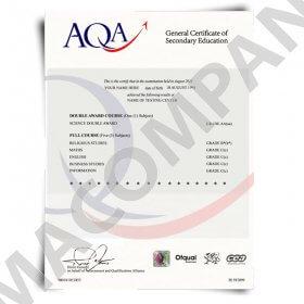Fake GCSE Certificate