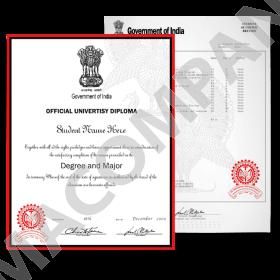 Fake India Diplomas and Transcripts